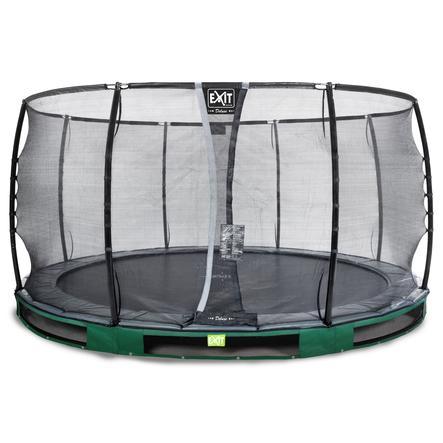 EXIT Inground - trampolina Elegant Premium ø427cm z Deluxe siatką zabezpieczającą - zielony
