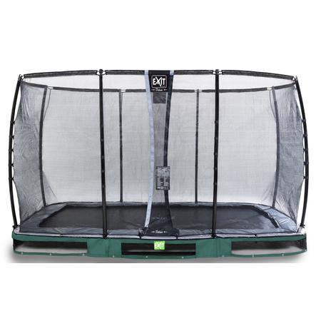 EXIT Inground - trampolino Elegant Premium 214x366 cm con rete di sicurezza Deluxe - verde