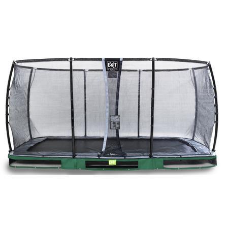 EXIT Inground-Trampolin Elegant Premium 244x427 cm med Deluxe sikkerhedsnet - grøn