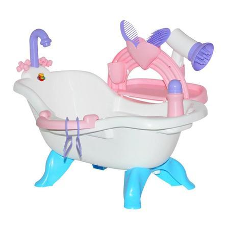 POLESIE Badekar med dukker med tilbehør