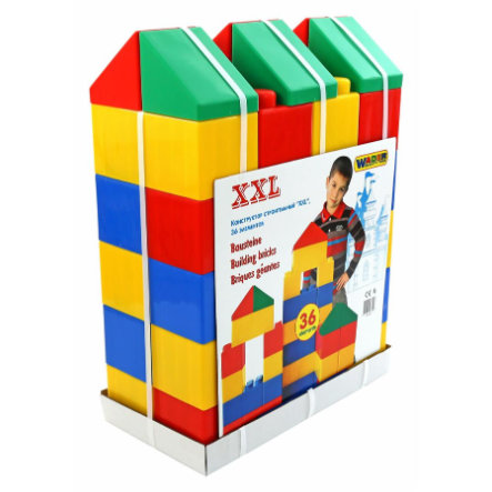 WADER QUALITY TOYS Briques de jeu XXL, 36 pièces