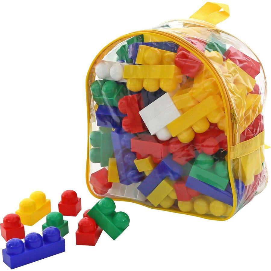 POLESIE® Briques de jeu de base Junior, sac à dos 100 pièces