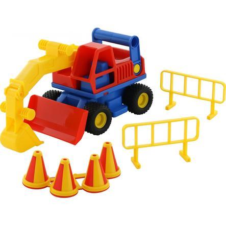 WADER QUALITY Giocattoli Contro Truck Escavatore
