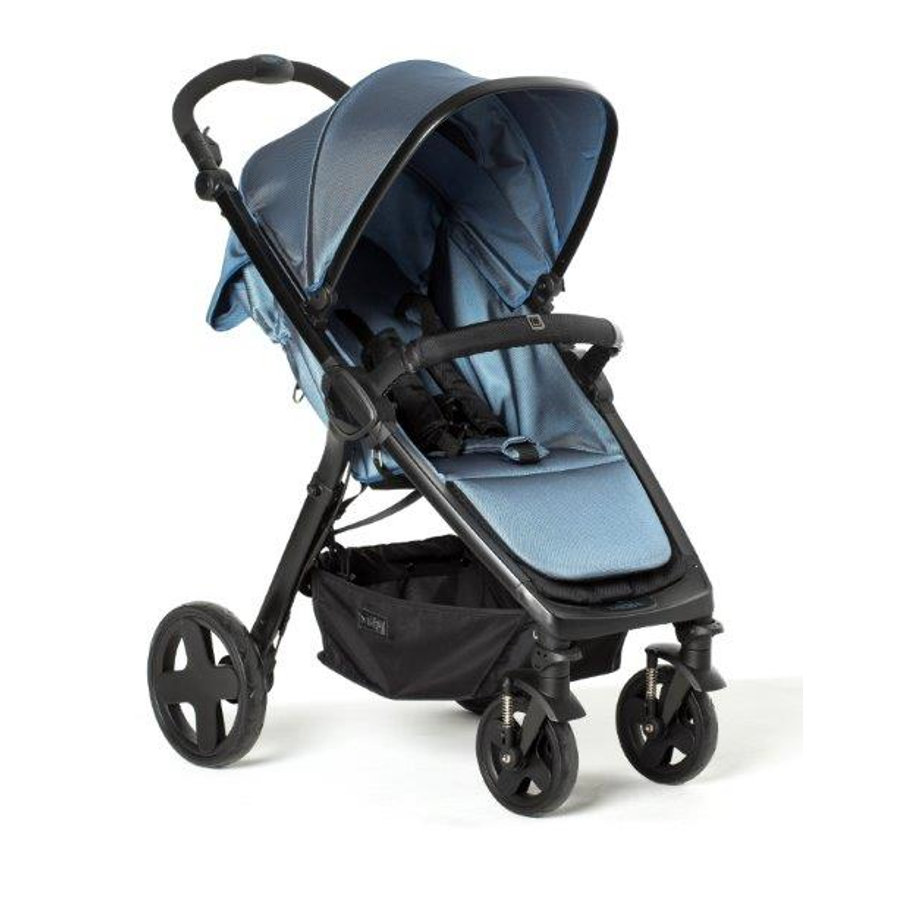 MOON Kinderwagen JET City blue/nylon stripe
