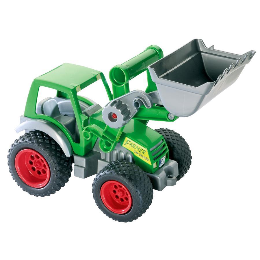 WADER QUALITY TOYS Farm teknik traktor med frontskovl