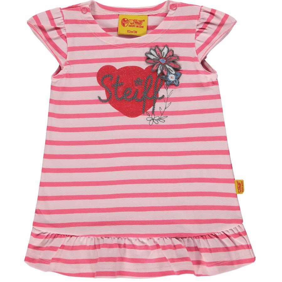 Steiff Girls Šaty s křídlovým rukávem, růžové