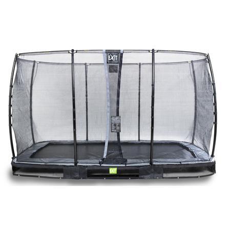EXIT Inground trampolino Elegant 214x366cm con rete di sicurezza Economy - schwa rz