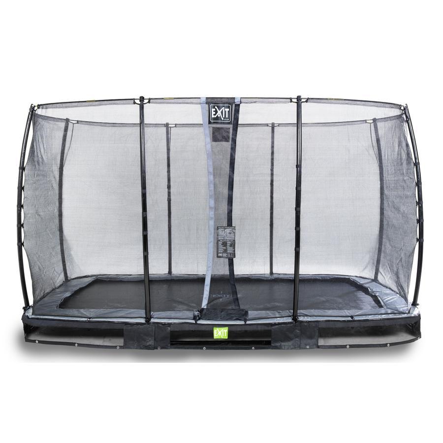 EXIT Elegant inground trampoline 214x366cm met Economy veiligheidsnet - zwart