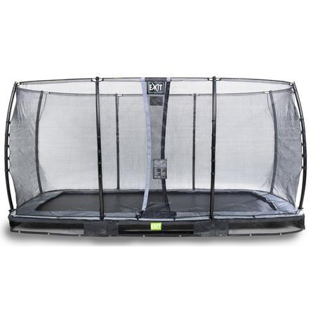 EXIT Inground trampolino Elegant 244x427cm con rete di sicurezza Economy - schwa rz