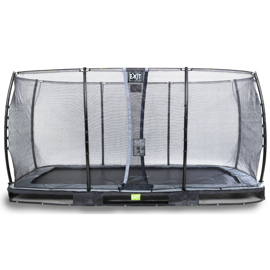 EXIT Elegant inground trampoline 244x427cm met Economy veiligheidsnet - zwart