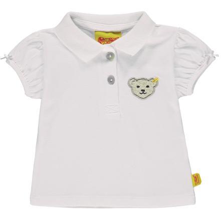 Steiff Girl s Poloshirt, blanco