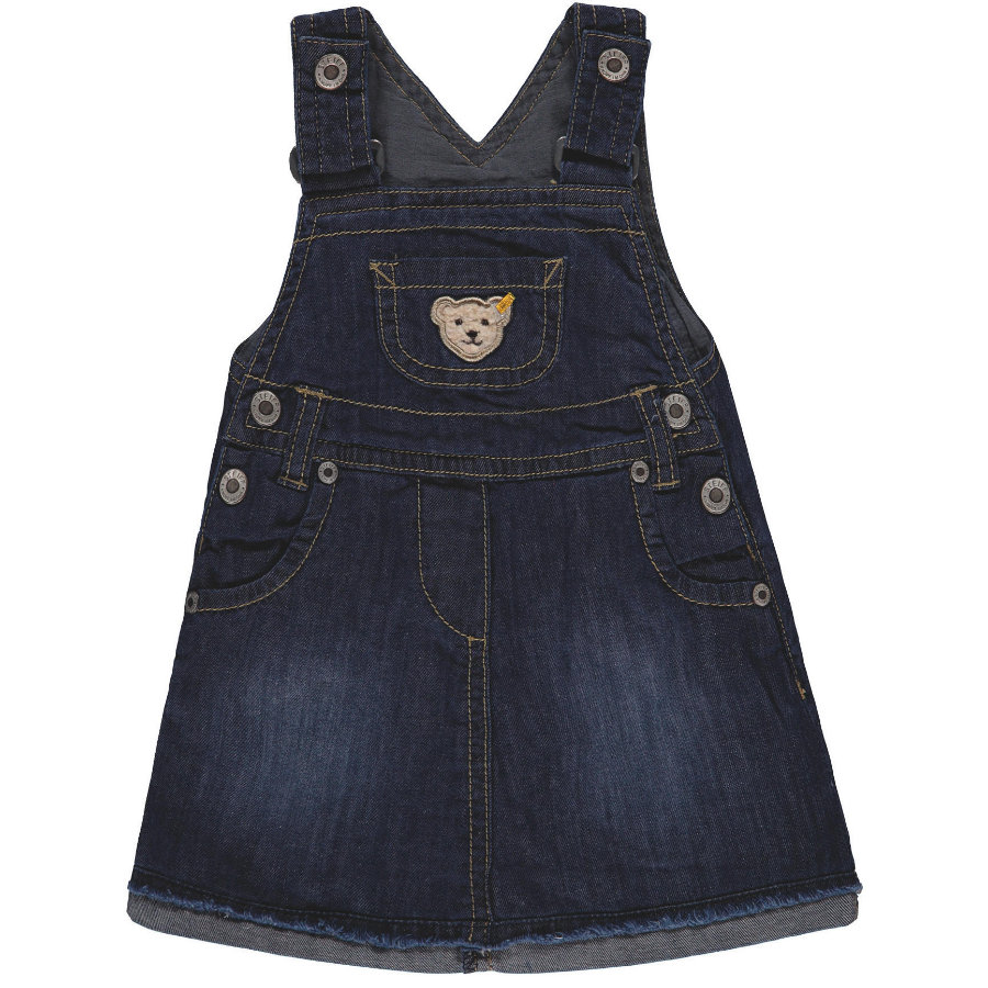 Steiff Girl s falda con solapa jeans, azul