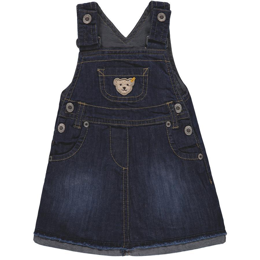 Steiff Girls Latzrock Jeans, blau