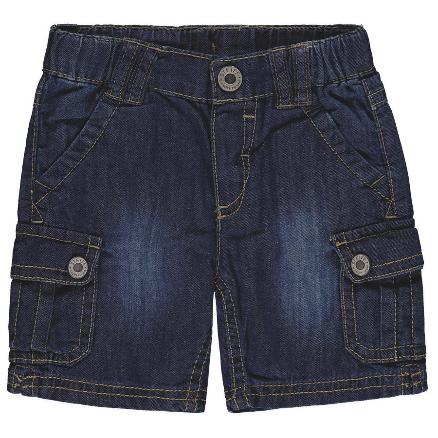 Steiff Boys Jeans Bermuda, bleu