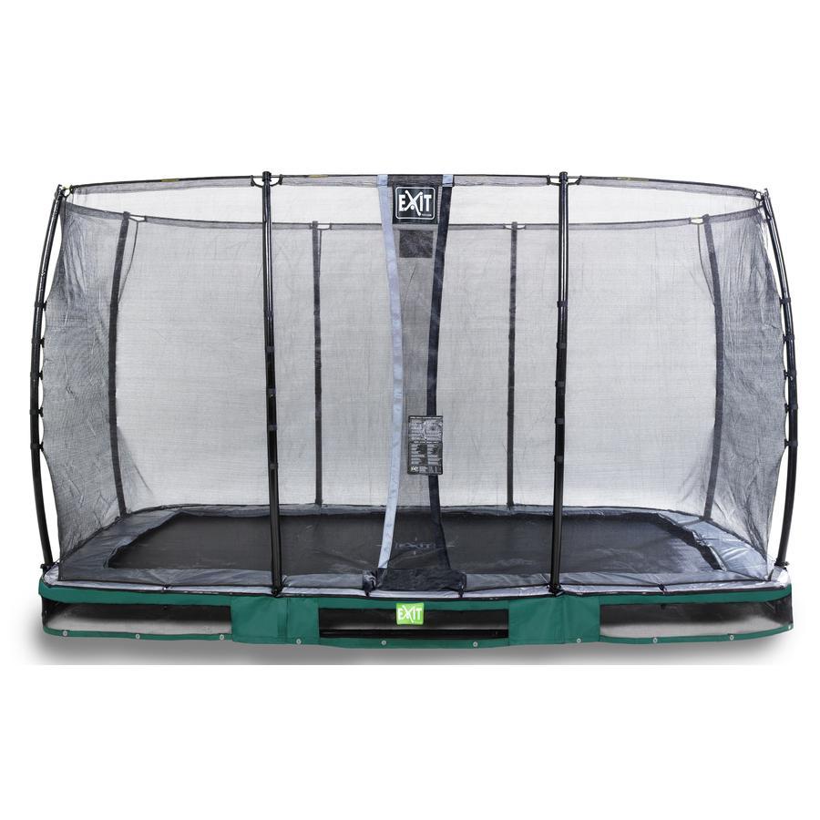 EXIT Inground - trampolina Elegant 214x366cm z Economy siatką zabezpieczającą - zielony