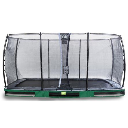 EXIT Inground trampolino Elegant 244x427cm con rete di sicurezza Economy - verde