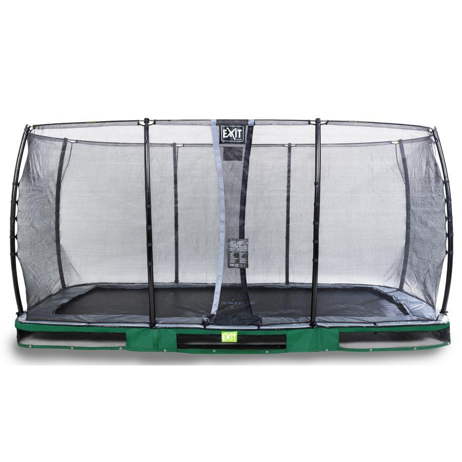 EXIT Inground-Trampolin Elegant 244x427cm mit Economy Sicherheitsnetz - grün