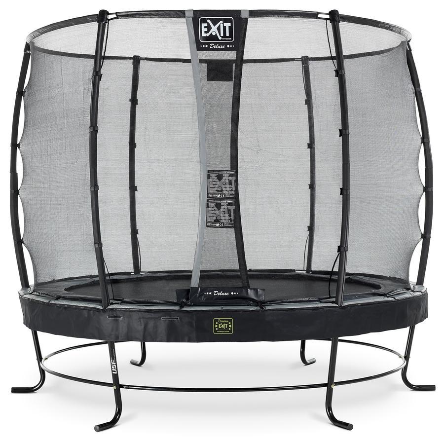 EXIT Elegant Premium trampoline ø305cm met Deluxe veiligheidsnet - zwart