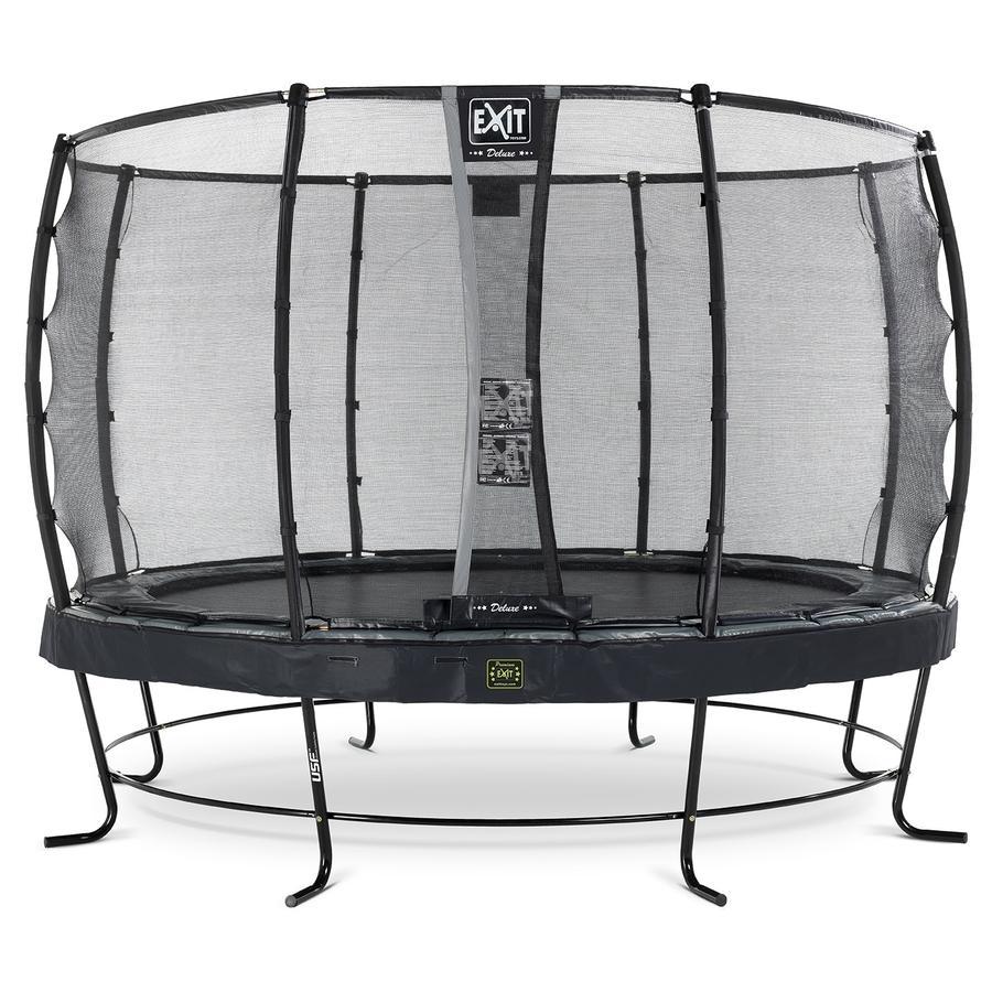 EXIT trampolína Elegant Premium ø366  cm s bezpečnostní sítí Deluxe - černá