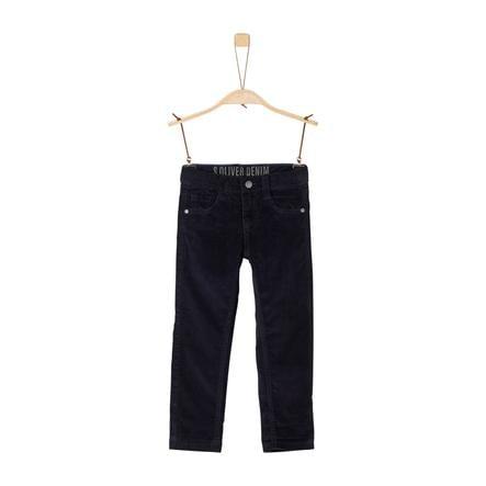 s.Oliver Boys Corduroy pantalon donkerblauw