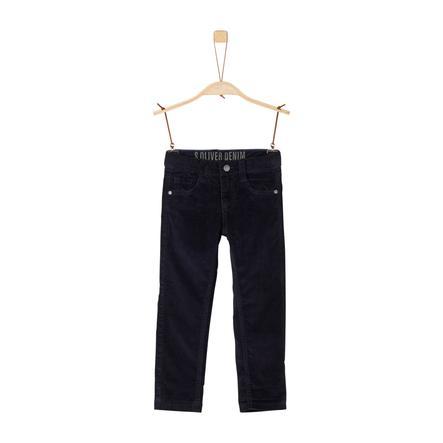 s.Oliver Boys Pantalón de pana azul oscuro