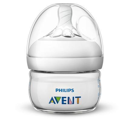 Philips AVENT Biberon Natural 2.0 60 ml 0-6 m+ SCF039/17 lot de 1