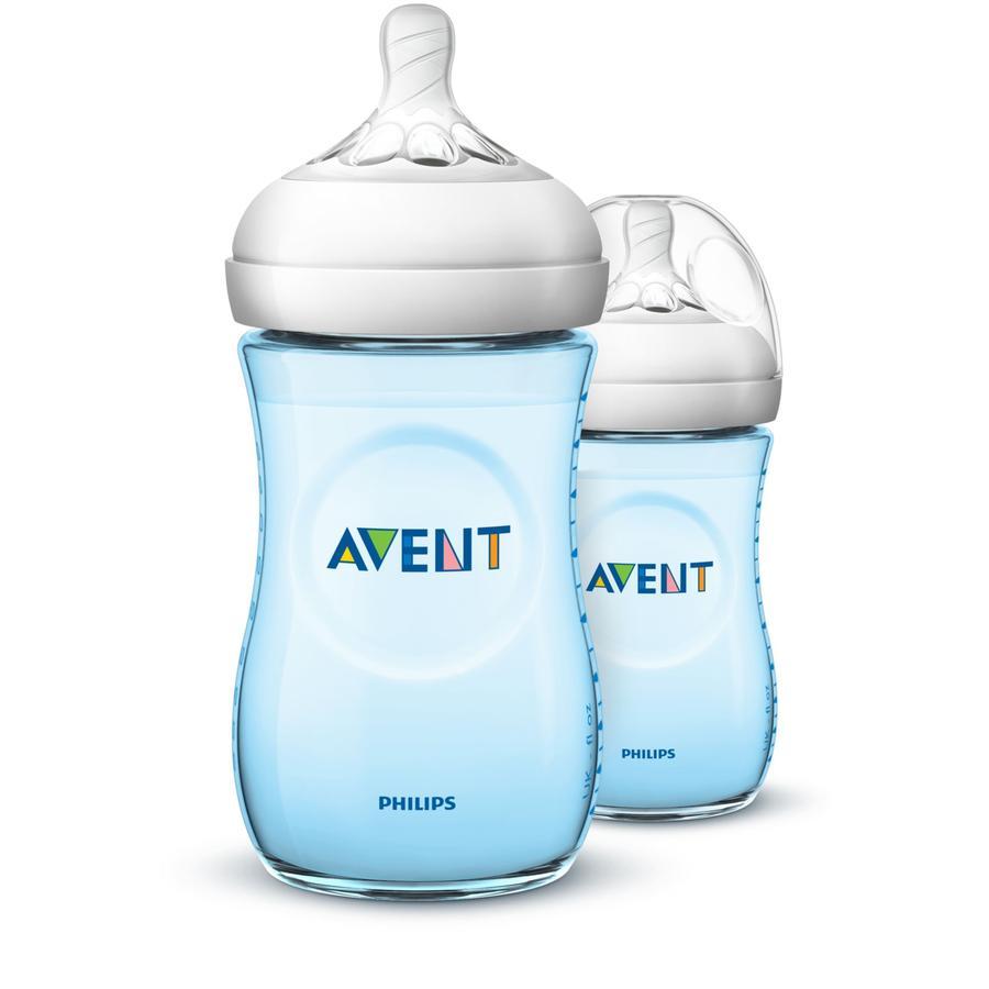 Philips Avent Natural flaske SCF034/27, 260ml, 2 stk, blå
