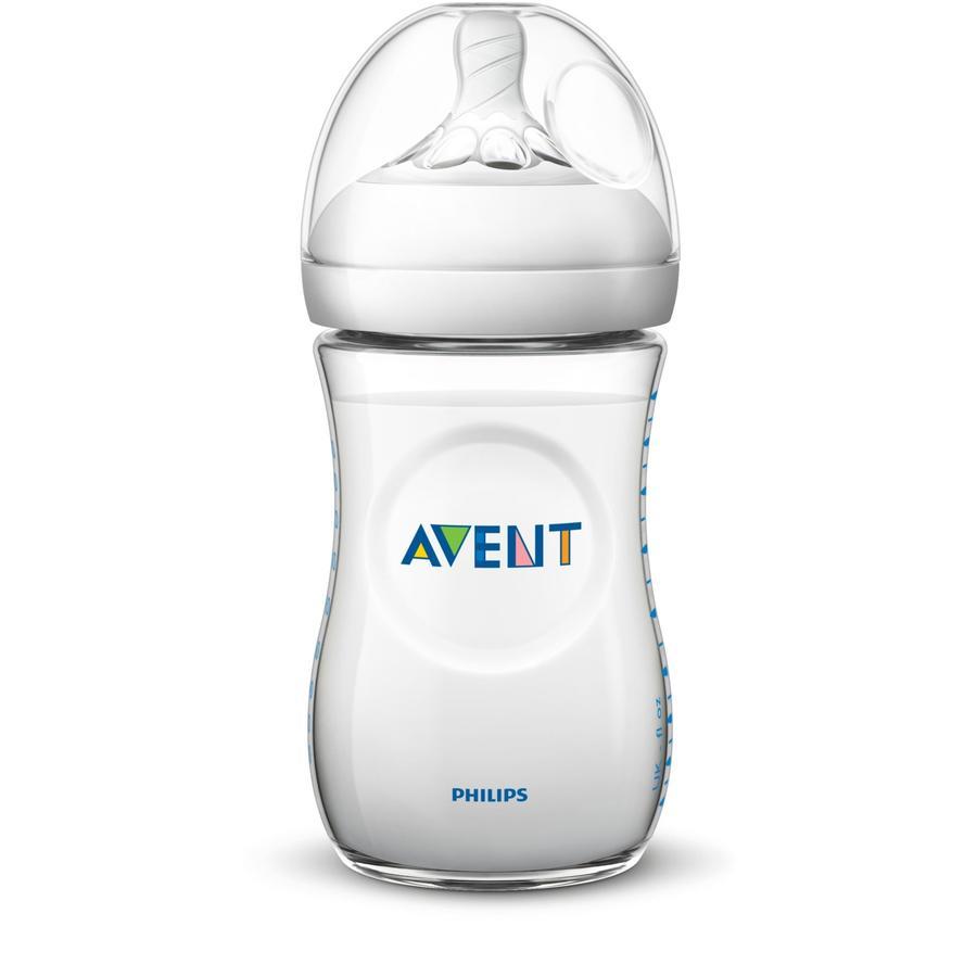 Philips Avent Natural-flaska SCF033 / 17, 260 ml, 1 st, transparent