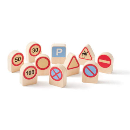 Kids Concept® Verkehrszeichen Aiden 10 Stück