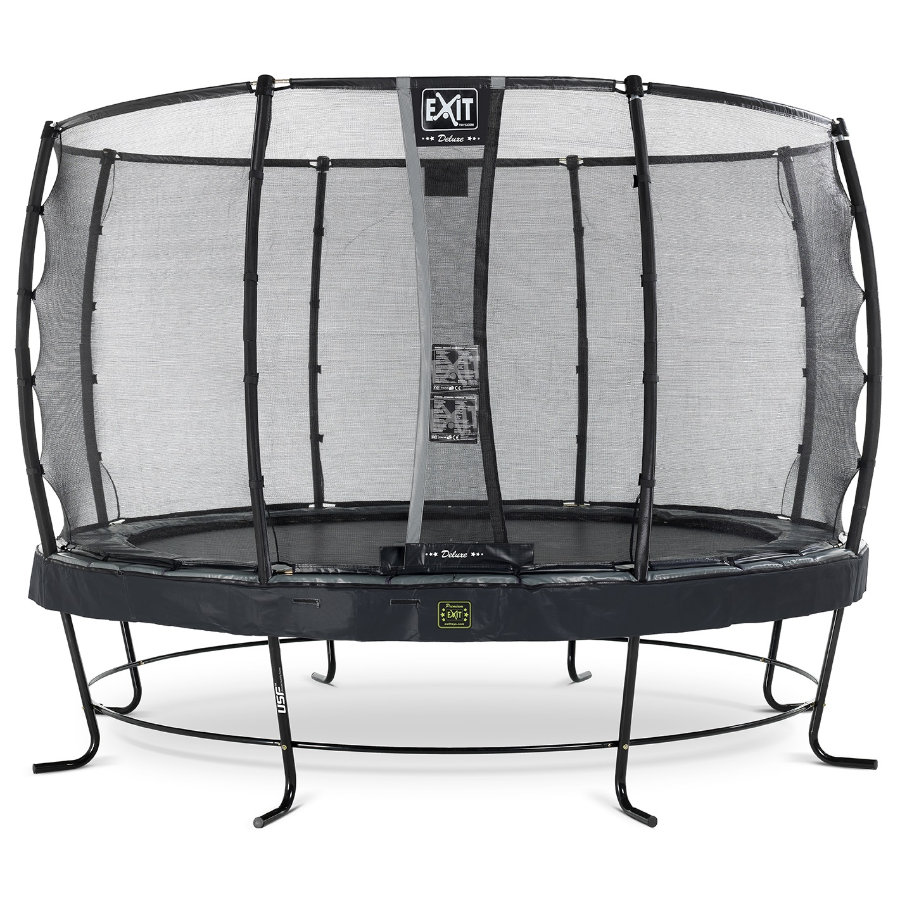 EXIT Elegant Premium trampoline ø427cm met Deluxe veiligheidsnet - zwart