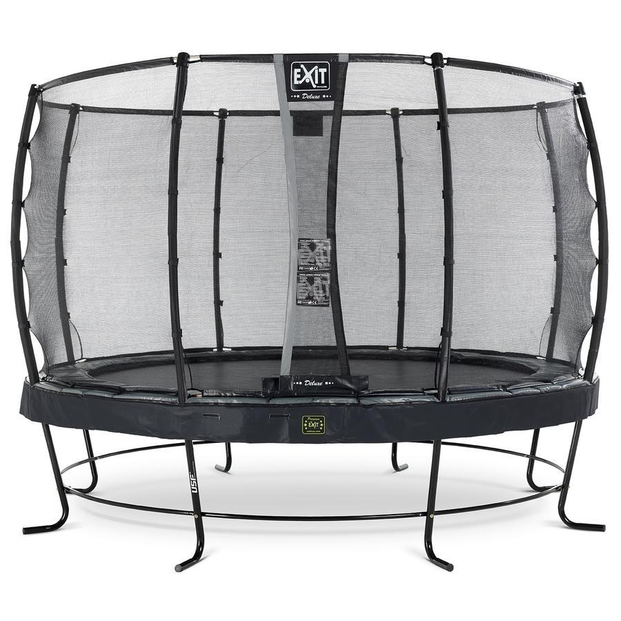EXIT trampolína Elegant Premium ø 427 cm s bezpečnostní sítí Deluxe - černá