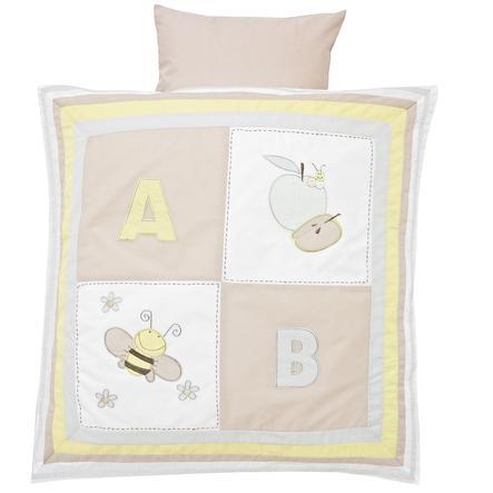 ALVI Set biancheria per culla - Patchwork beige 80x80