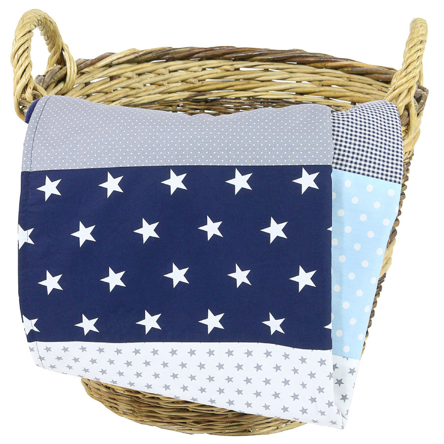 Dětská přikrývka Ullenboom & plyšová deka 100X140 cm modrá světle modrá šedá