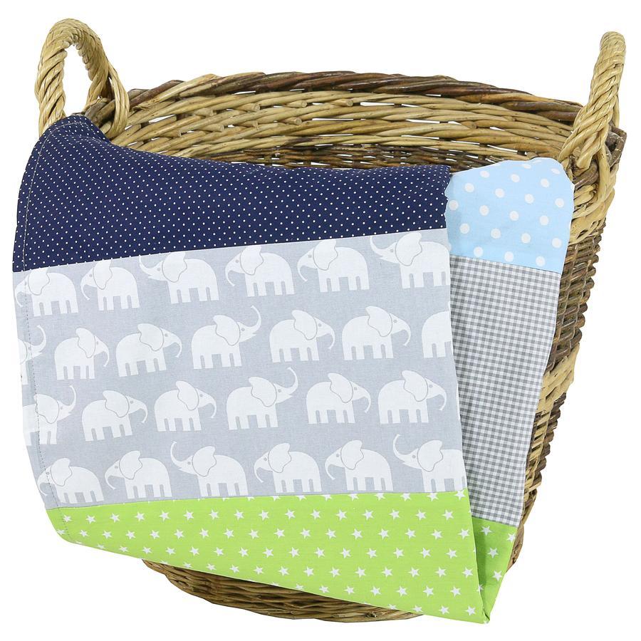 Ullenboom Babyteppe & Koseteppe 100x140 cm Elefant Blå Grønn