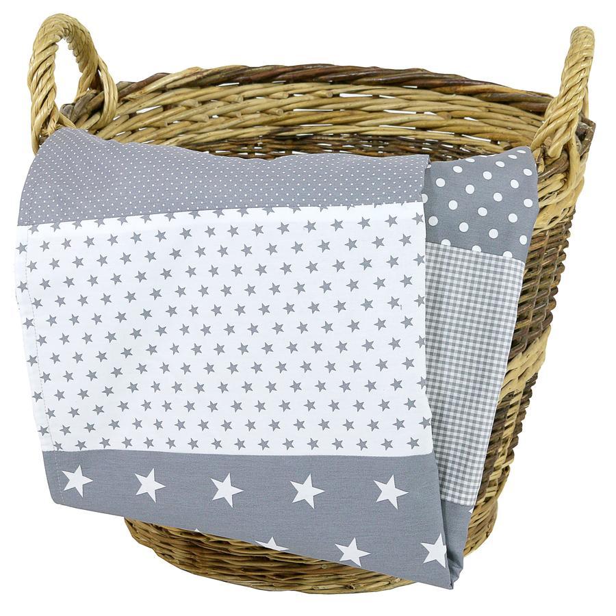 Ullenboom Copertina bebé e coperta coccolone 100X140 cm stelle grigie