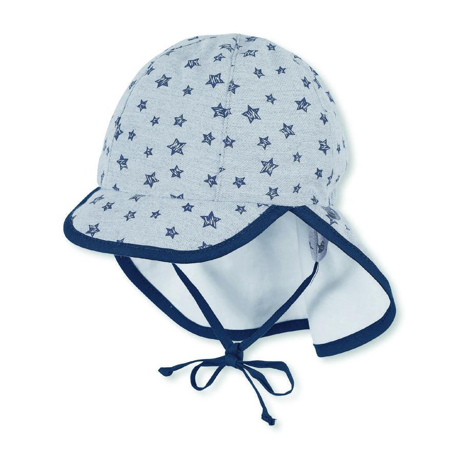 Sterntaler Boys Schirmmütze mit Nackenschutz rauchgrau