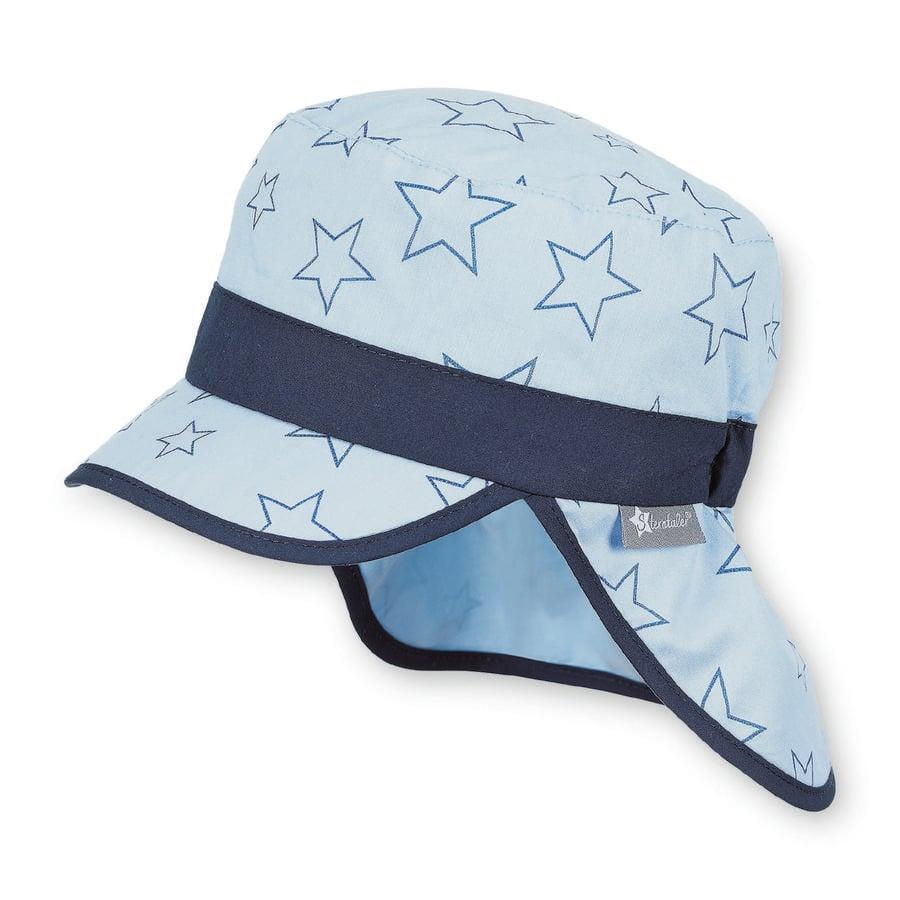 Sterntaler Boys cappello a visiera con protezione del collo cielo