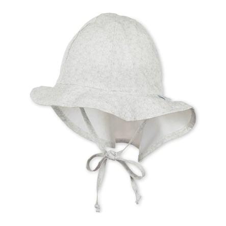 Sterntaler Cappello a scudo Maglia Flapper grigio chiaro