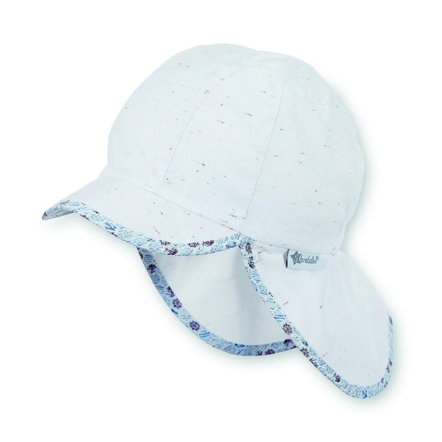 Sterntaler Boys gorra con protector de cuello blanco