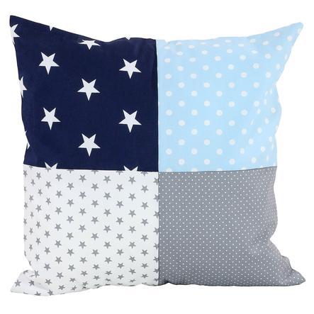 Ullenboom Patch pokrywa poduszki roboczej 40 x 40 cm niebieski jasnoniebieski szary