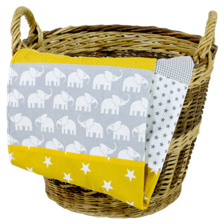 Ullenboom Babydecke & Kuscheldecke 70X100 cm Elefant Gelb