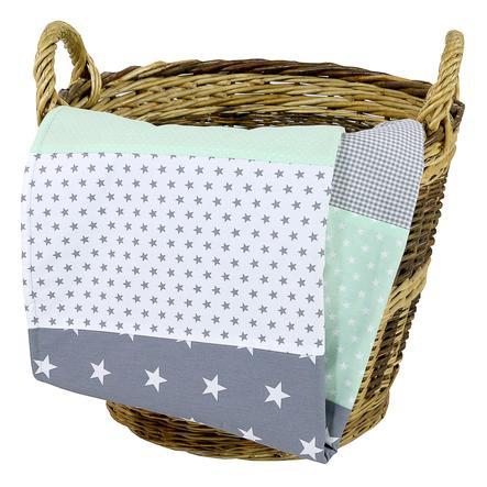 Ullenboom dětská deka 70 x 100 cm mentolová