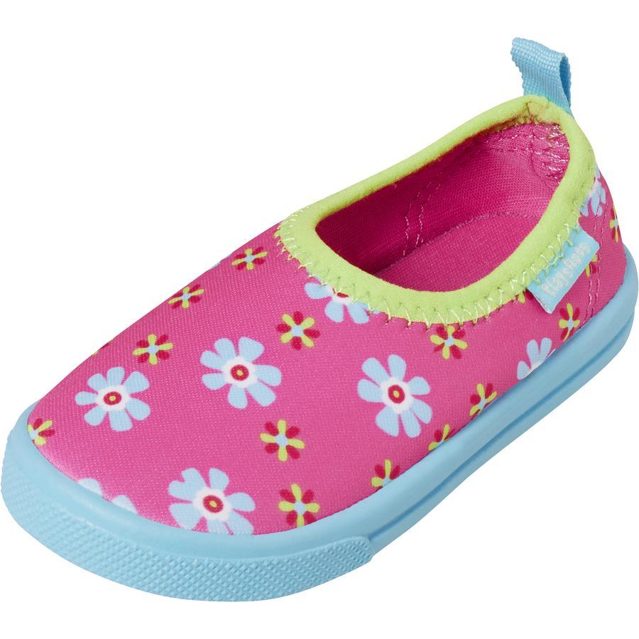 Playshoes Aqua-Slipper Fleurs rose