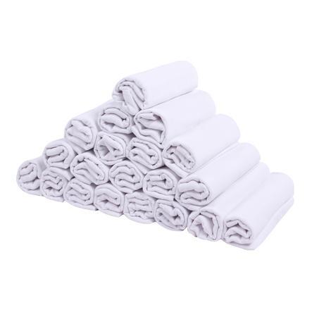 LULANDO Pannolini di stoffa pacco da 20, bianco 70 x 80 cm