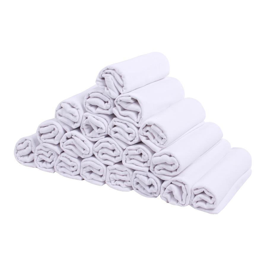 LULANDO Bawełniane pieluszki 20 szt. 70 x 80 cm, kolor biały