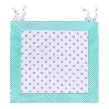 LULANDO deka Play-Mat mentolová, hvězdičky bílé 120 x 120 cm