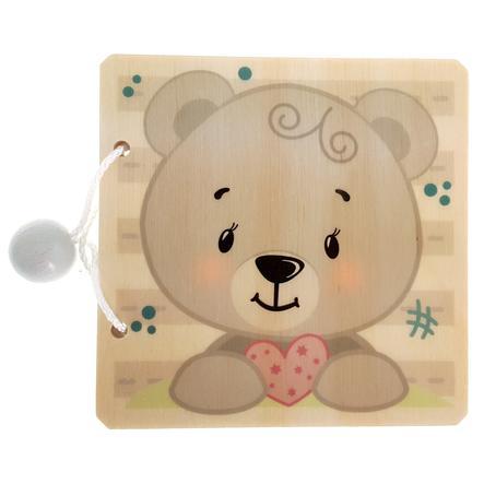 HESS Livre imagier enfant ours bois naturel