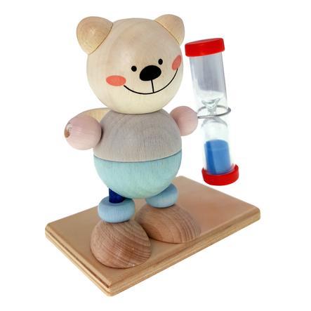 HESS Minuteur brossage de dents enfant ours bois naturel