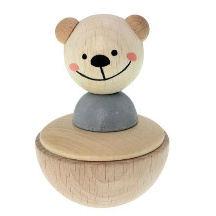 HESS Culbuto enfant ours bois naturel