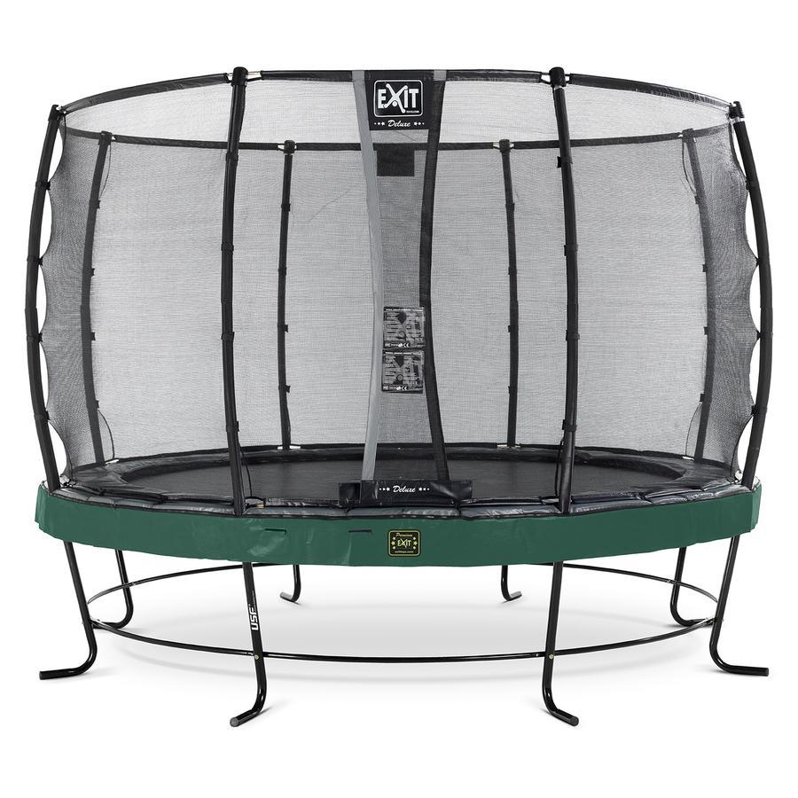EXIT Elegant Premium trampoline ø366cm met Deluxe veiligheidsnet - groen